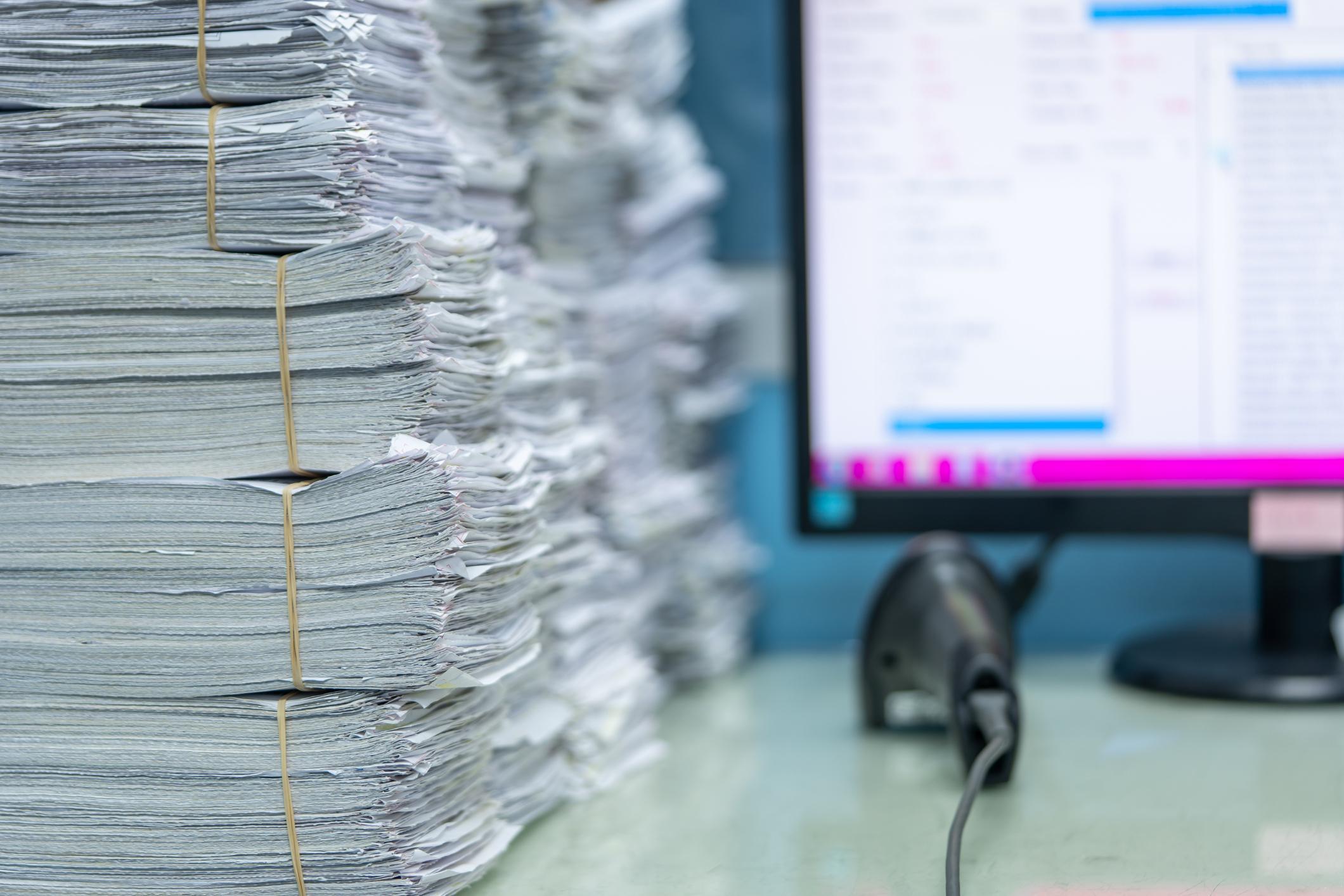 Using scanner machine for convert document to digital data